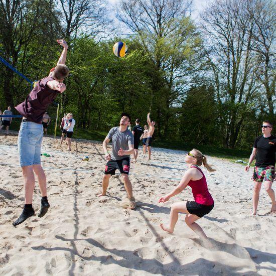 Beachvolley på Idrætshøjskolen Viborg
