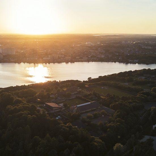 Aften over Viborg